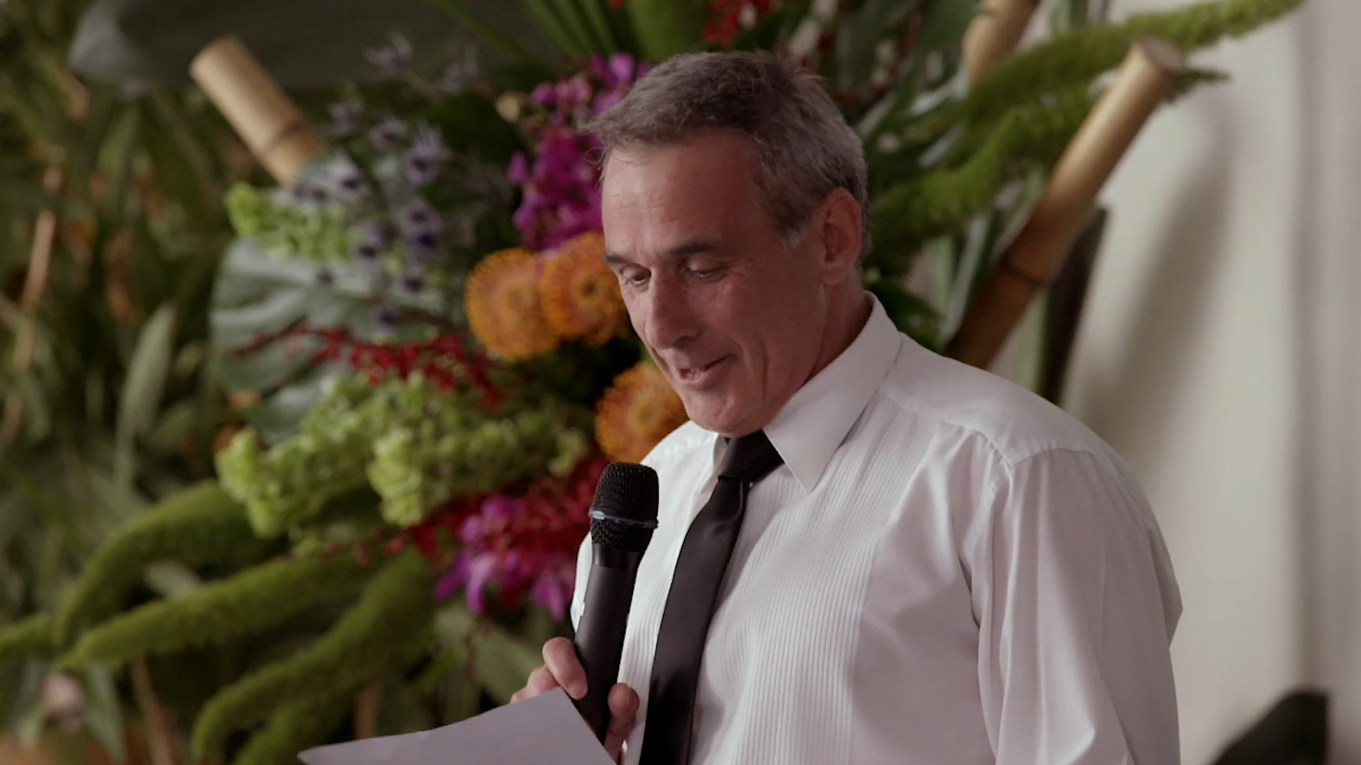 John's teary wedding speech