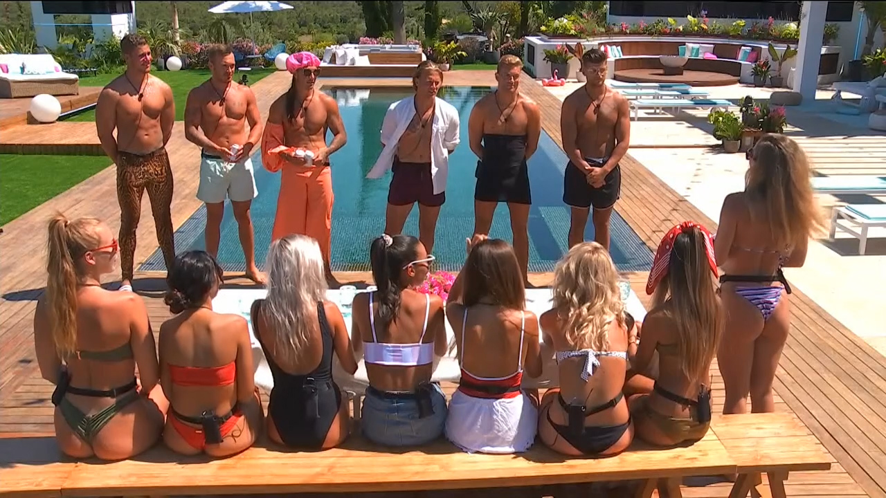 The boys glam it up for the inaugural Mr Love Island
