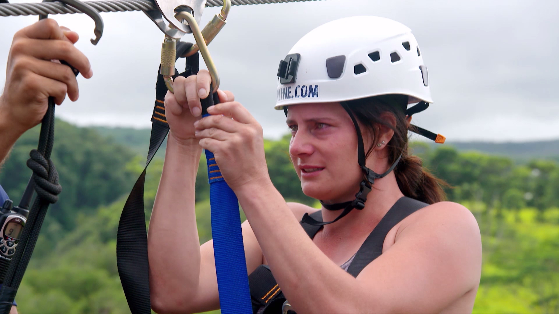 Zip-line adventure leaves cowgirl in tears
