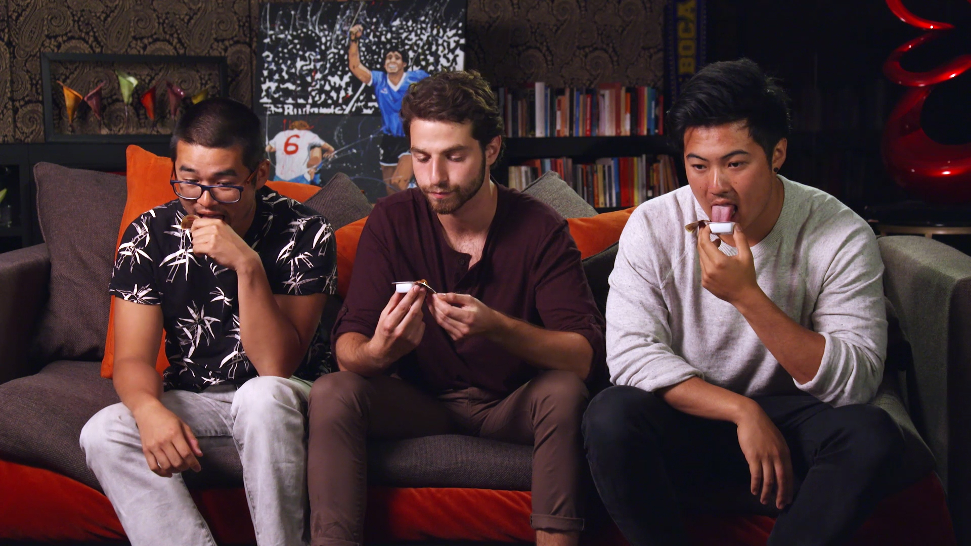 Kev, Dorian and Teng try the 'Nutella' of Argentina