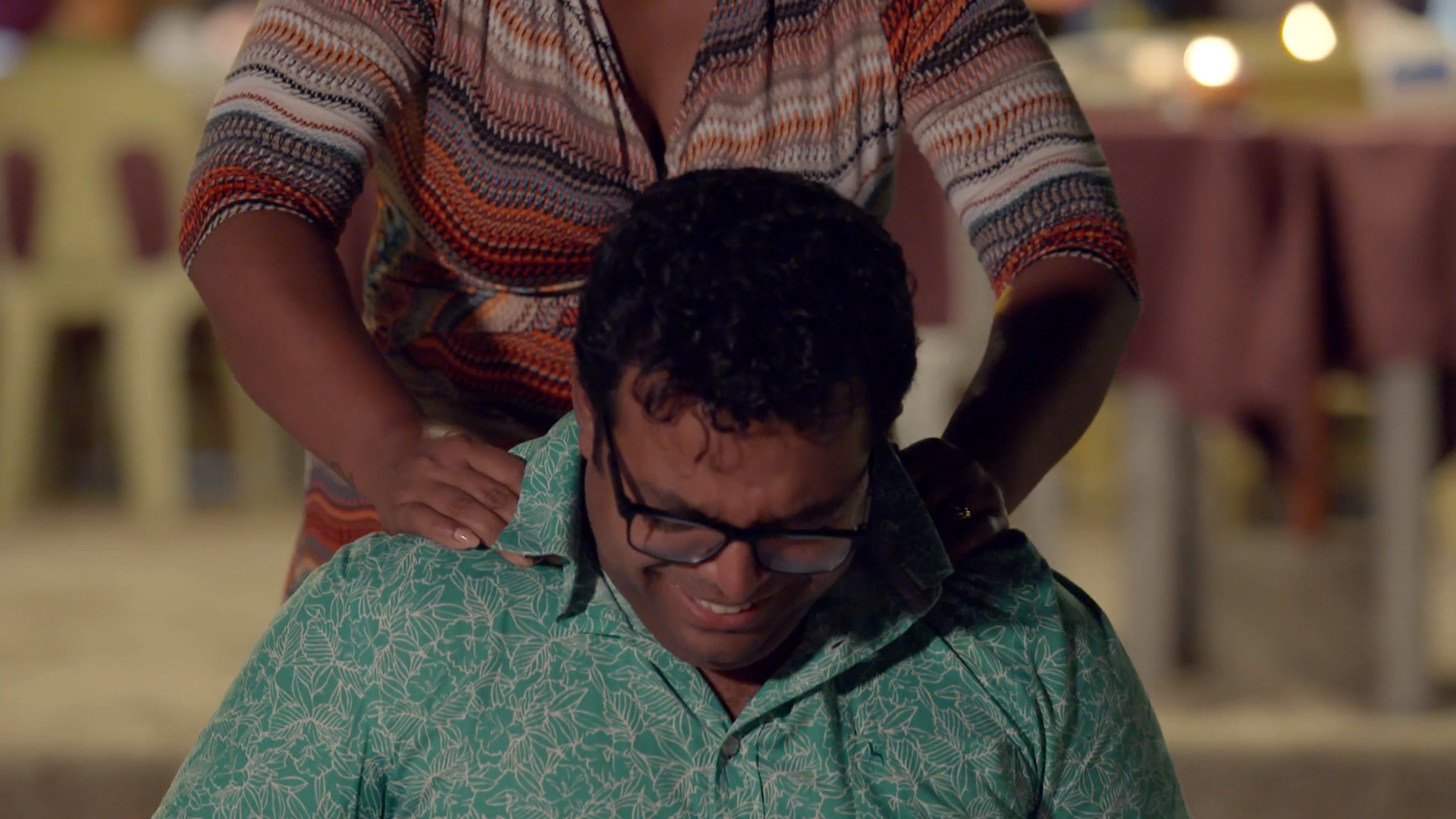 Beach massage gets awkward for Deepesh and Sage