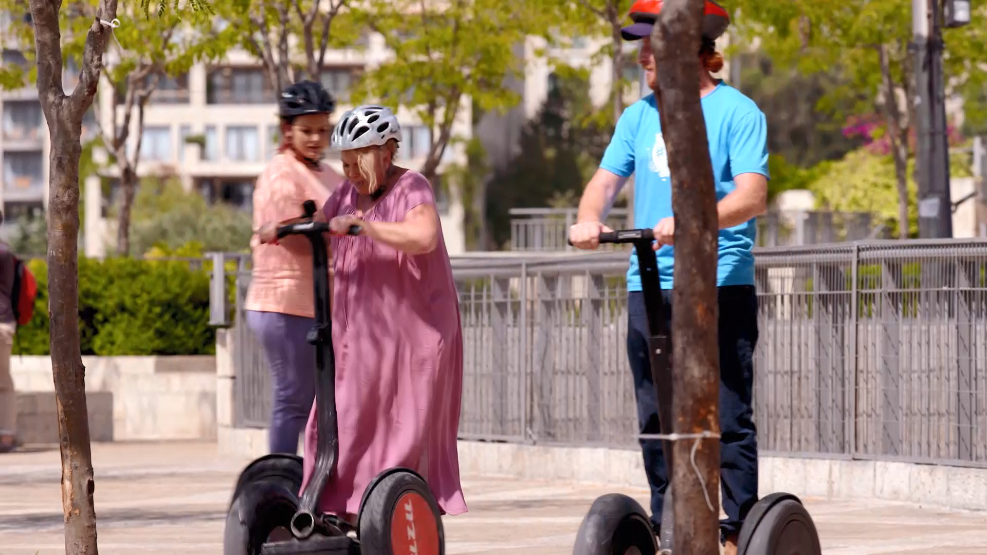 Cath stacks it on a segway