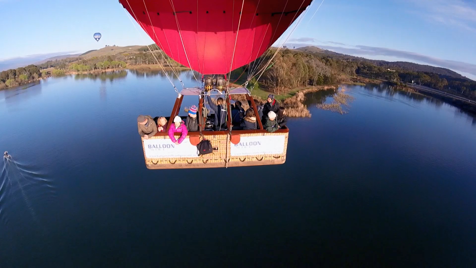 The Guides go on a hot air balloon ride