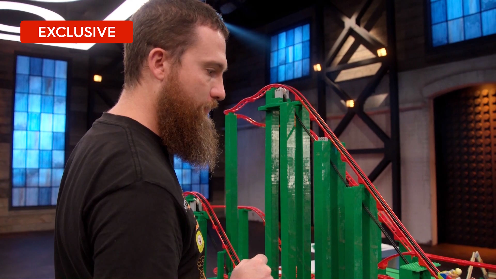 Exclusive: David and G are excited their LEGO roller coaster works