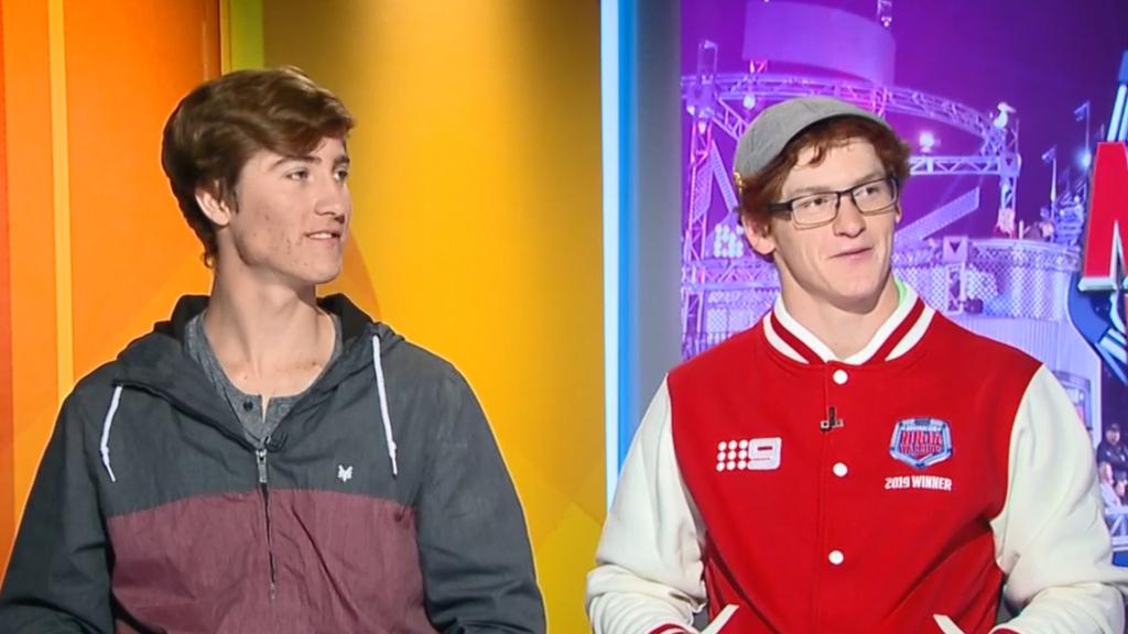 Charlie and Bryson speak on their Australian Ninja Warrior success