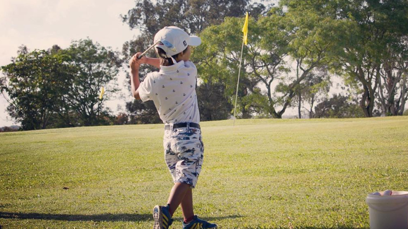 Five-year-old golf prodigy taking on the professionals