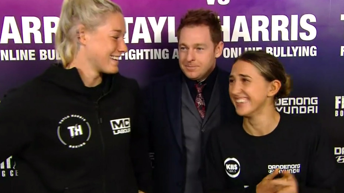 KIIS host takes on AFL star Tayla Harris in boxing match of the year