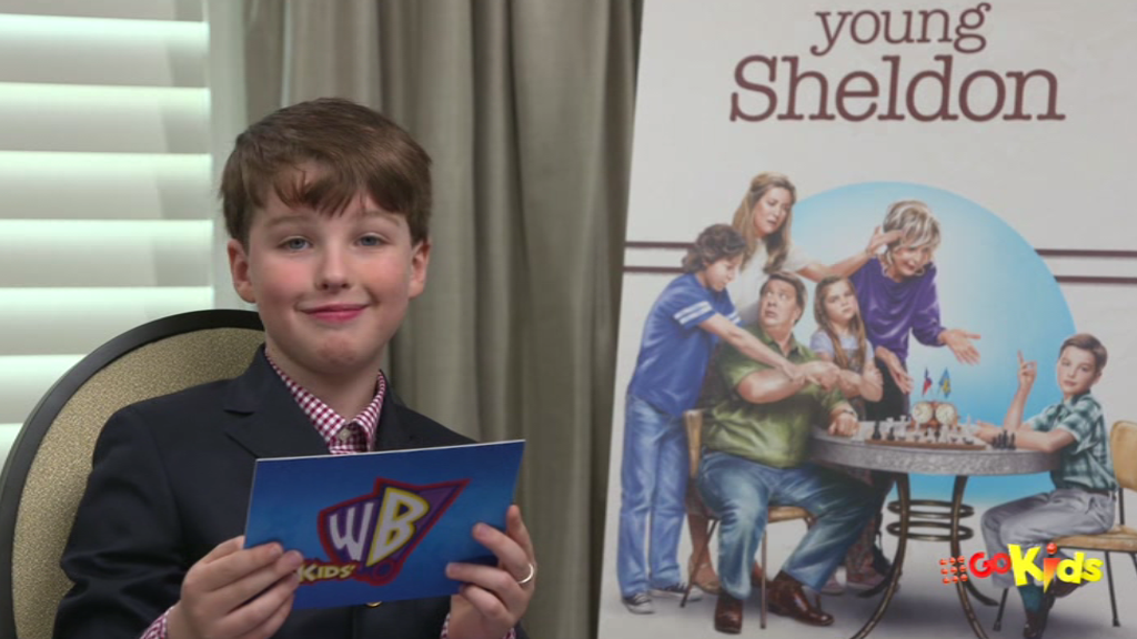 Young Sheldon star Iain Armitage has some Kids' WB fun!