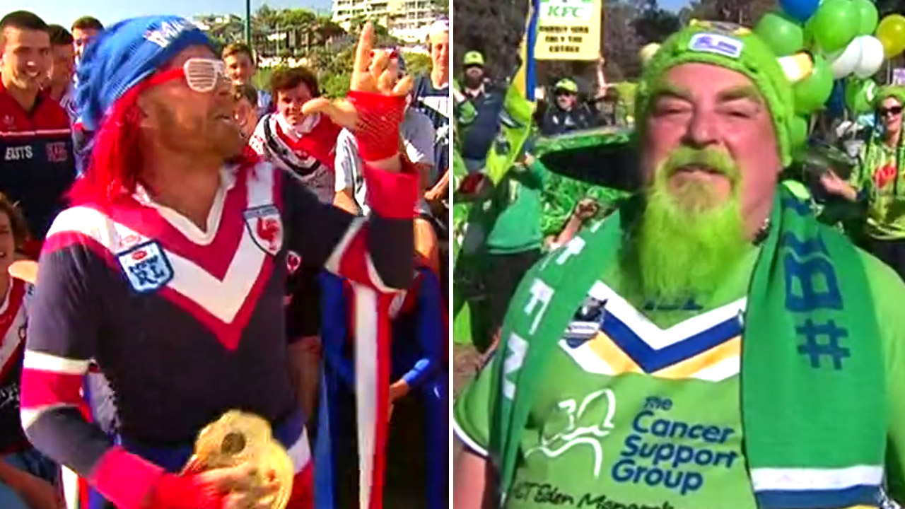Raiders versus Roosters: it's a fan off