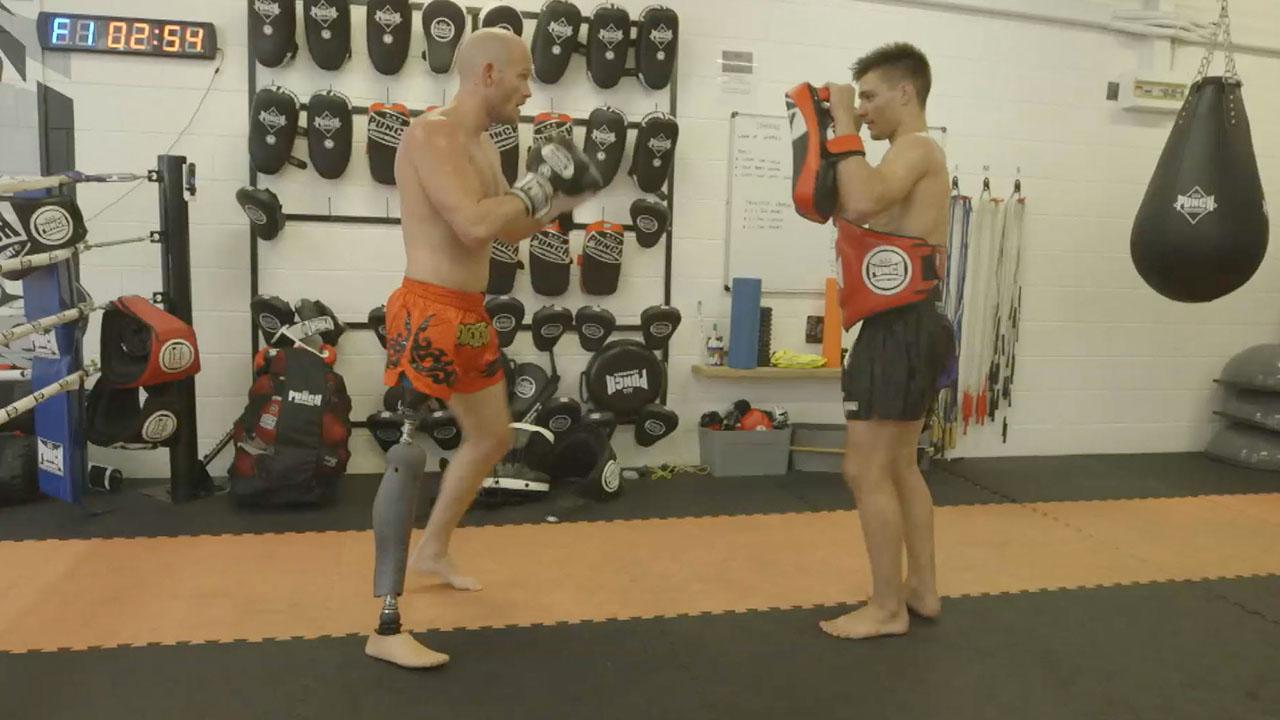Brave shark attack survivor's inspiring kickboxing journey