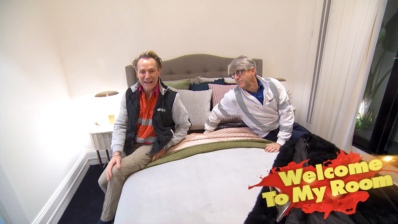 Mitch and Mark show off their Kate Moss room