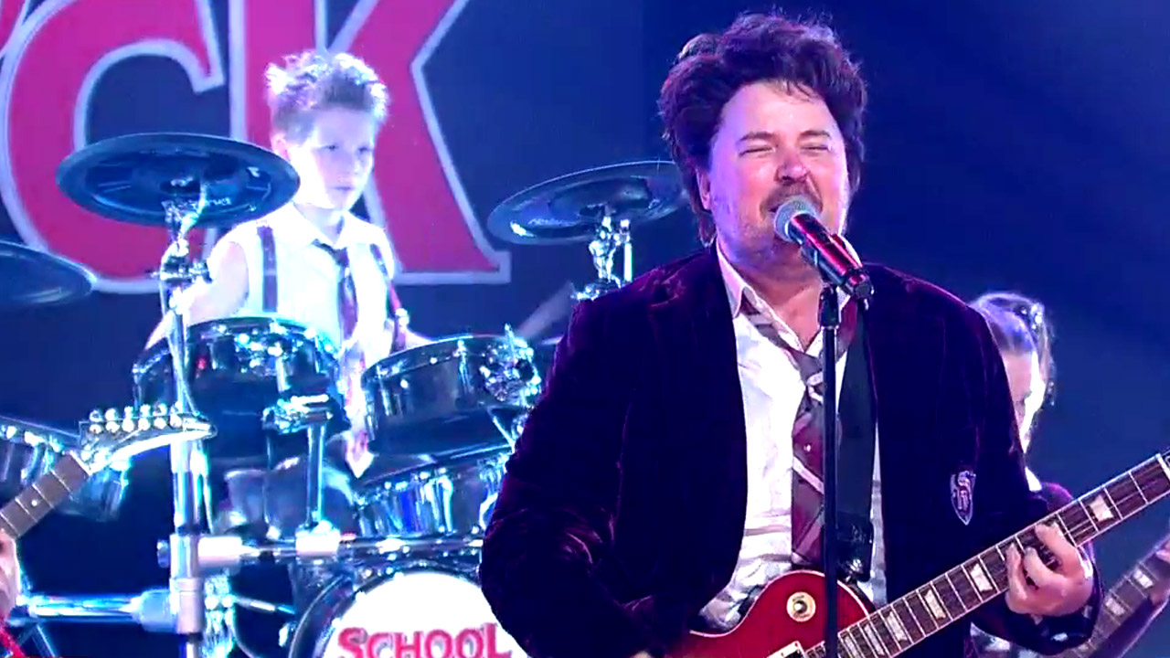 School of Rock cast tear down the studio