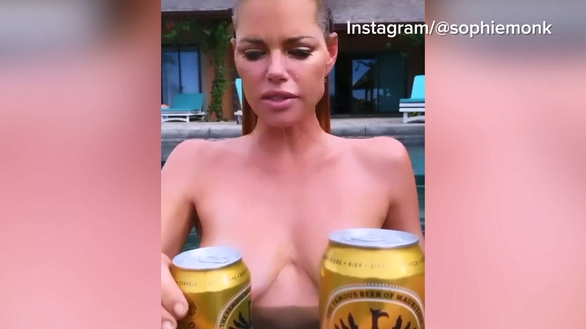 Sophie Monk bares all while on holiday
