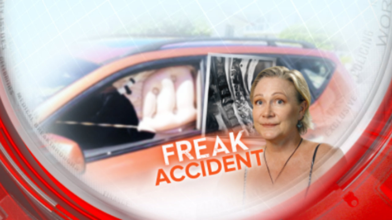 Freak accident