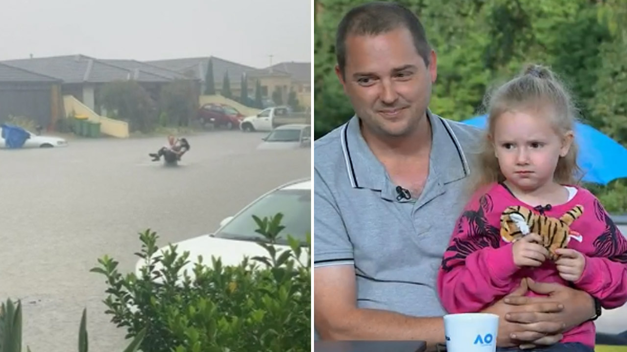 Humble hero rushes into floodwaters to save neighbour