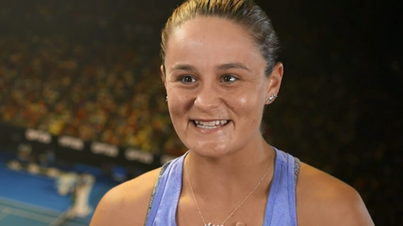 Ash Barty is as humble, and close to her family as ever