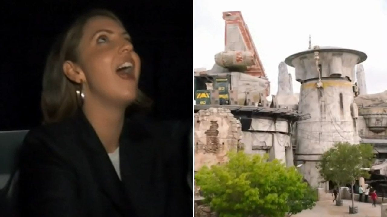 Brooke gets up close and personal with Disneyland's new Star Wars ride
