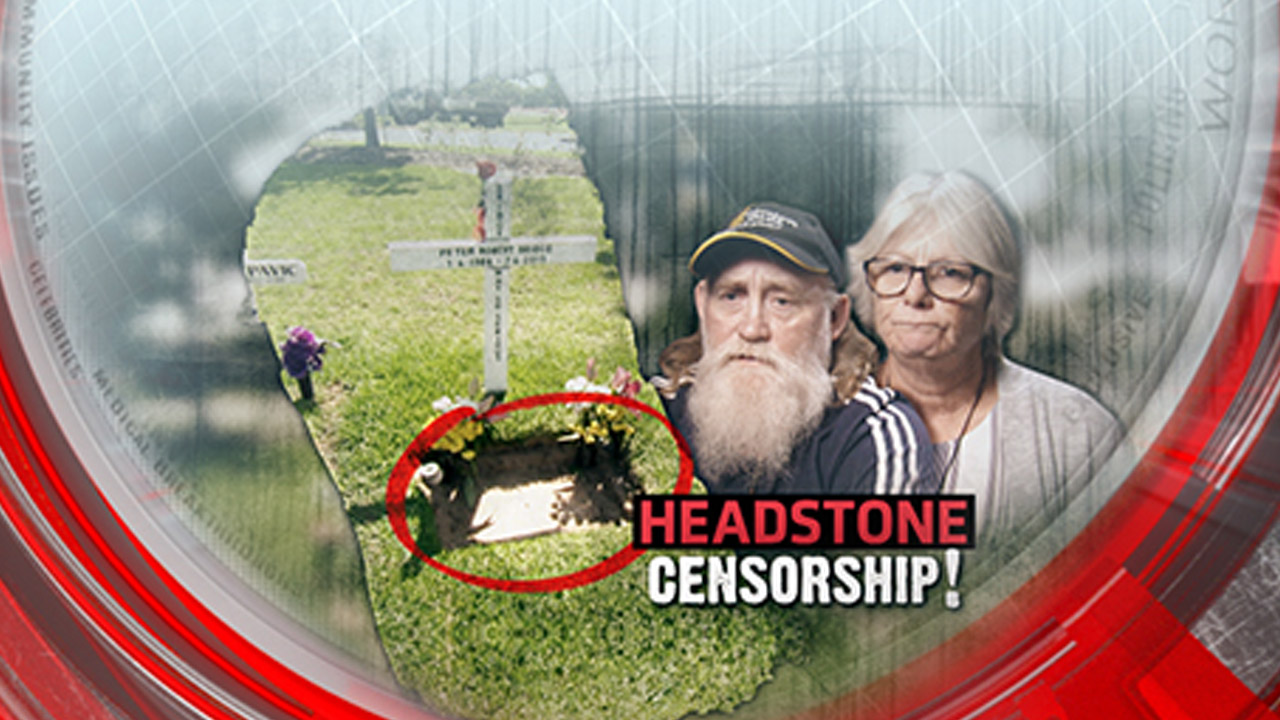 Headstone censorship
