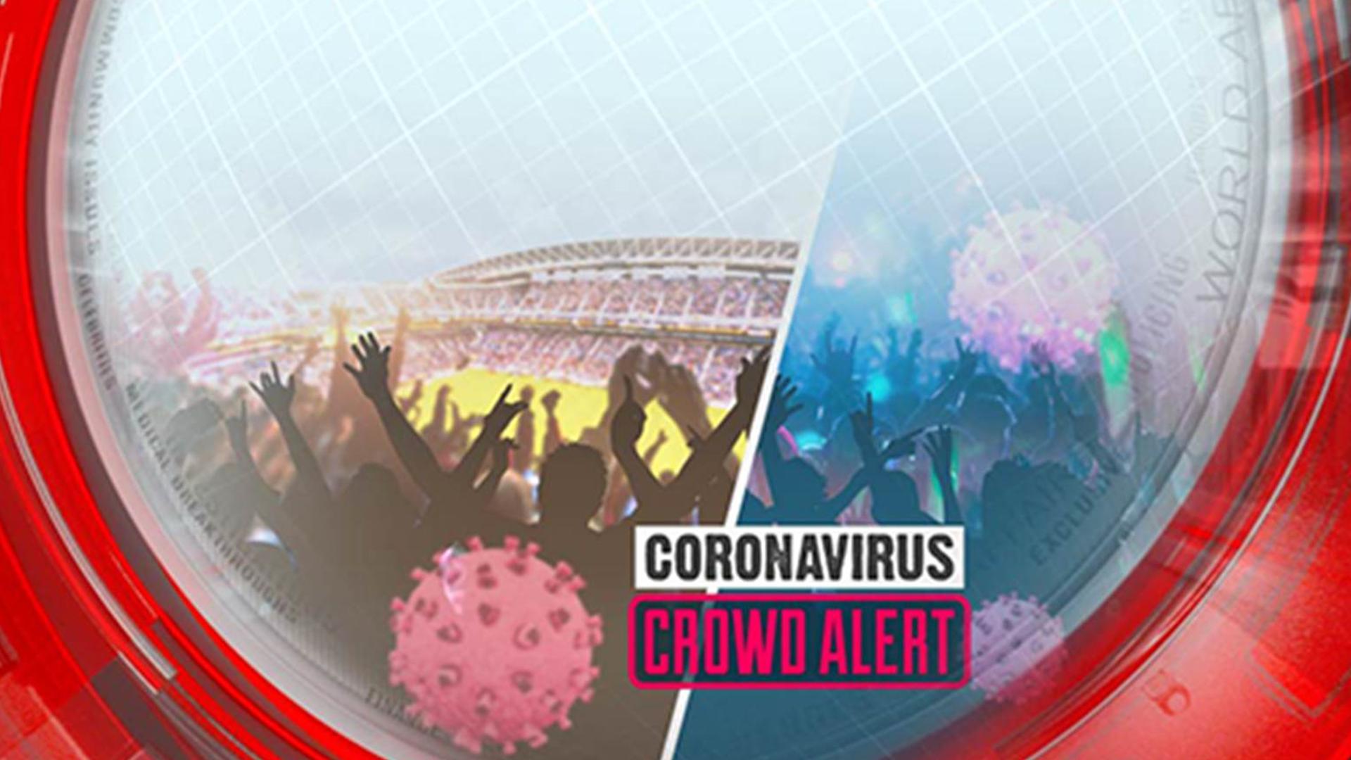 Coronavirus crowd alert