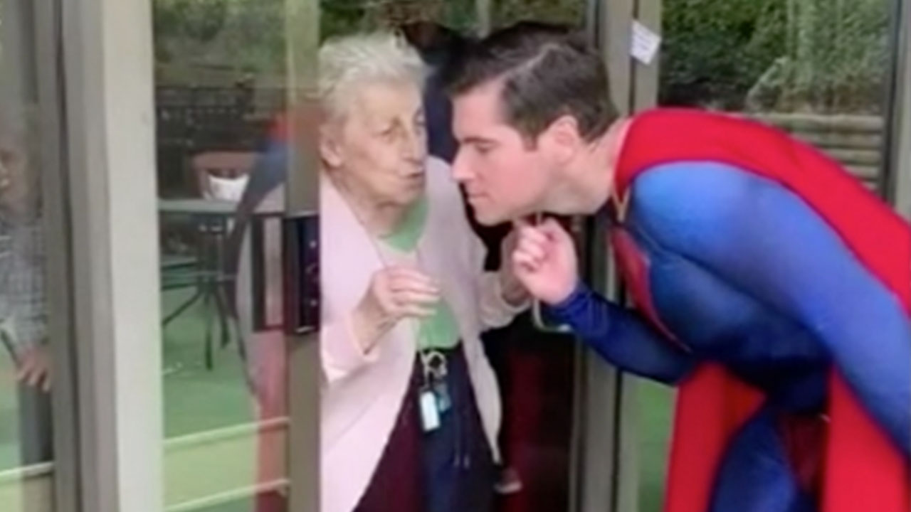 Sydney man's heartwarming moment with aged-care resident