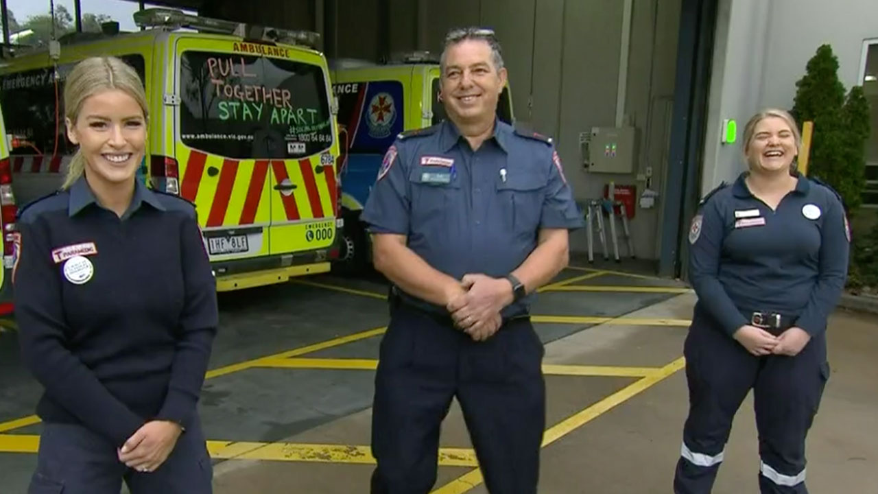 Dancing paramedics take social distancing message one step further