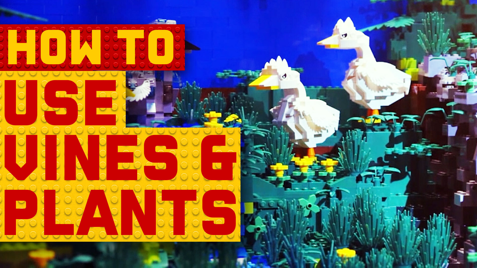 How to incorporate plants in your next LEGO creation