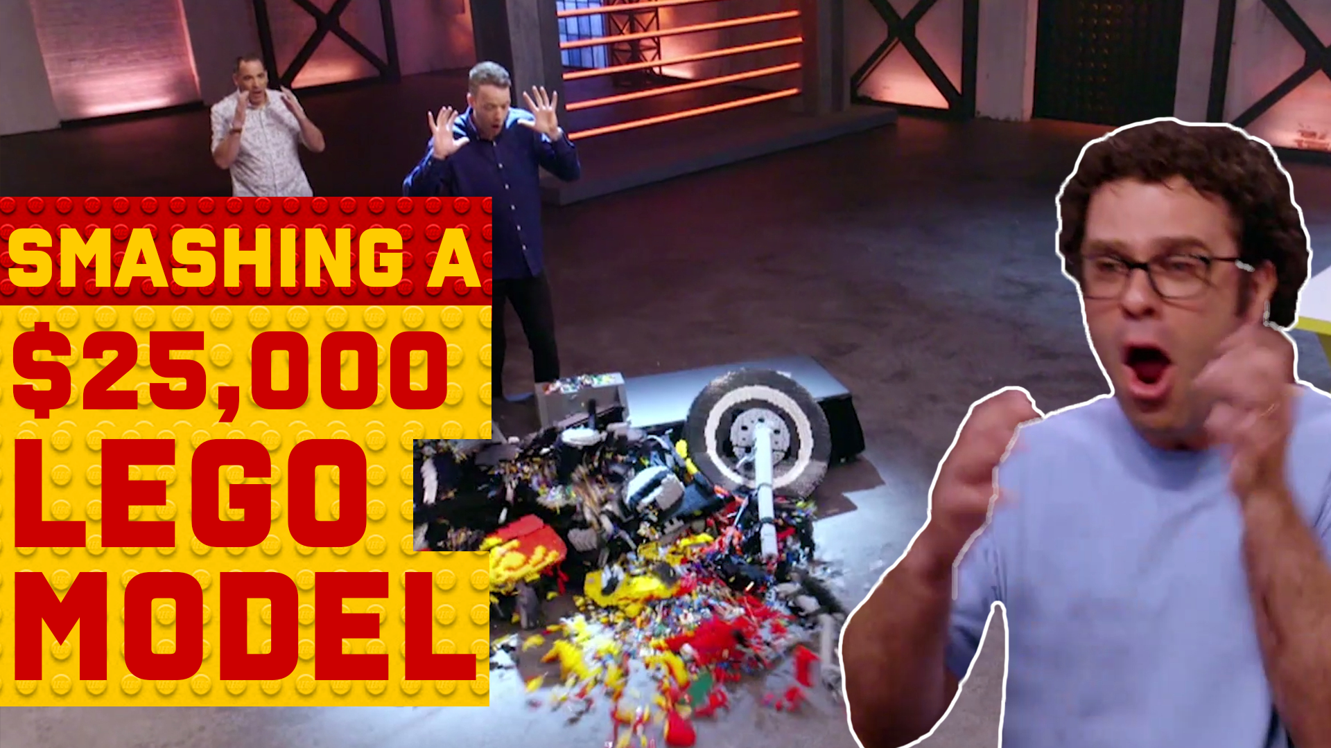 How Brickman built a LEGO motorbike to be smashed