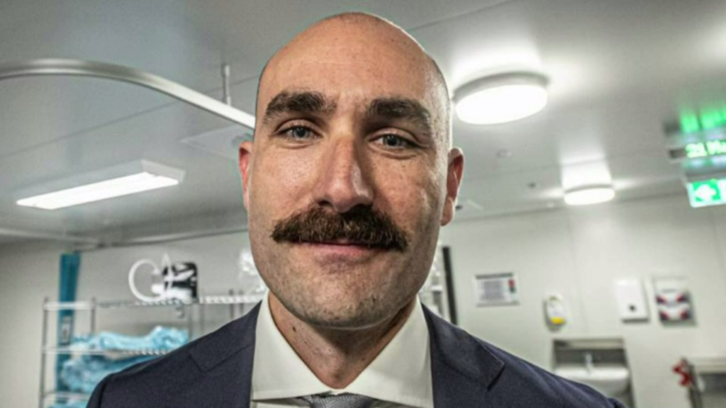 Hospital staff grow out the mo for a special cause