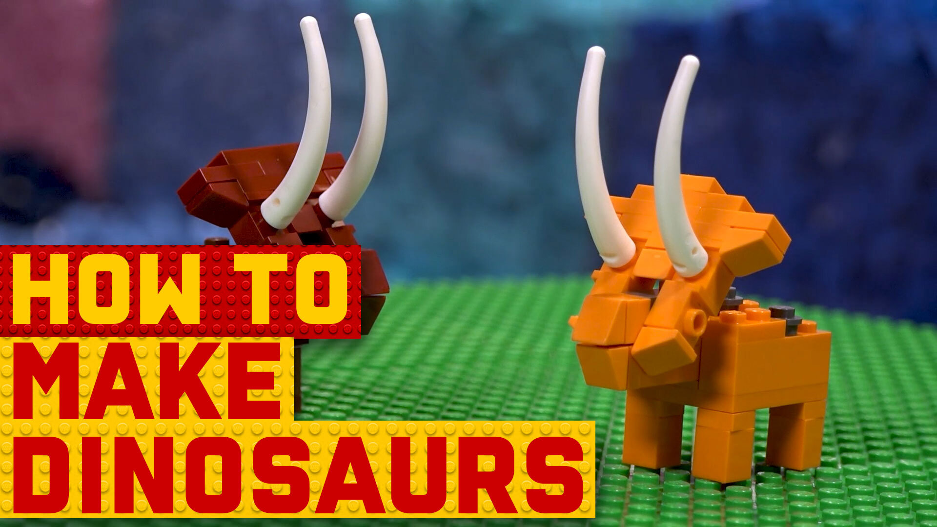 How to build LEGO dinosaurs