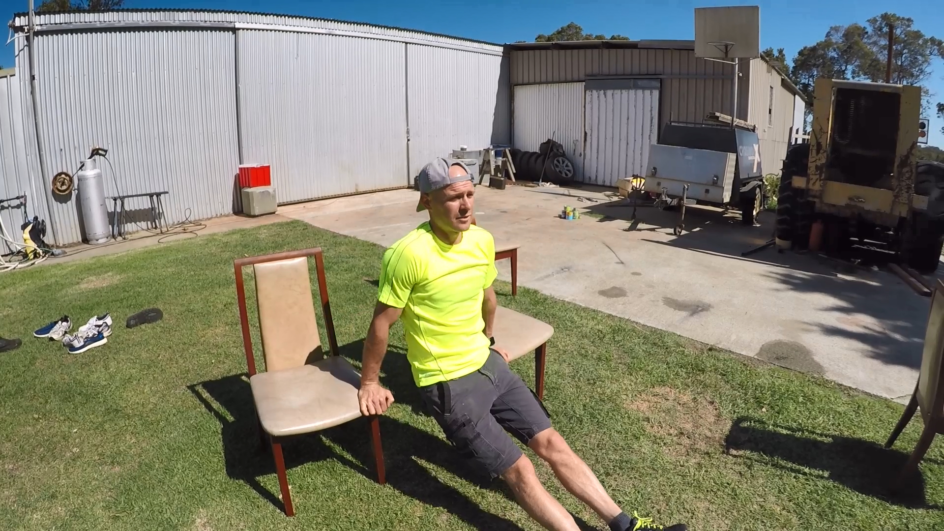 Sam Goodall's backyard workout routine: Course 2