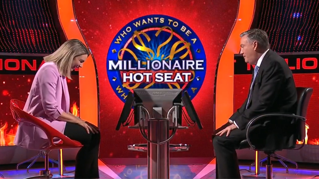Behind the scenes of 'Millionaire Hotseat'