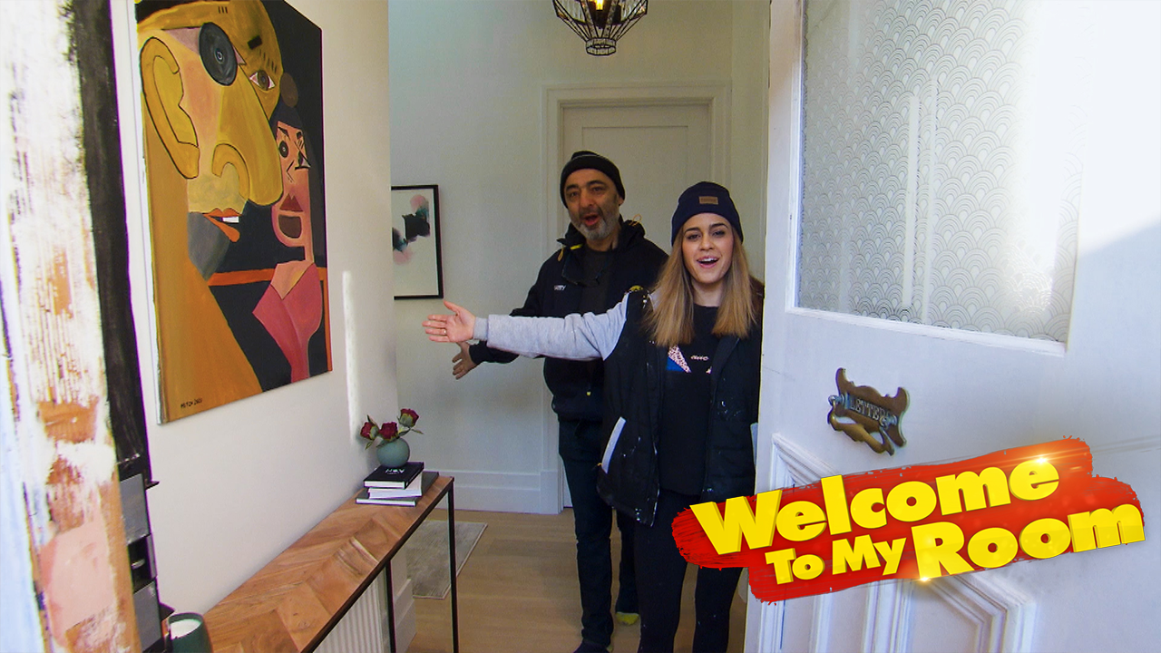 Welcome To My Room: Harry and Tash show off the stunning drawcards in their hallway