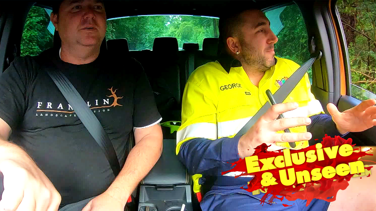 Exclusive: George's rap on the way to pick up his olive tree