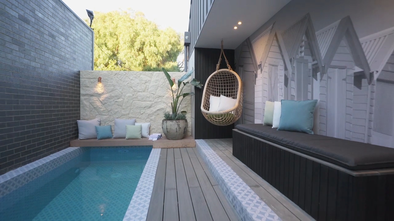 Sarah and George's Backyard and Pool revealed