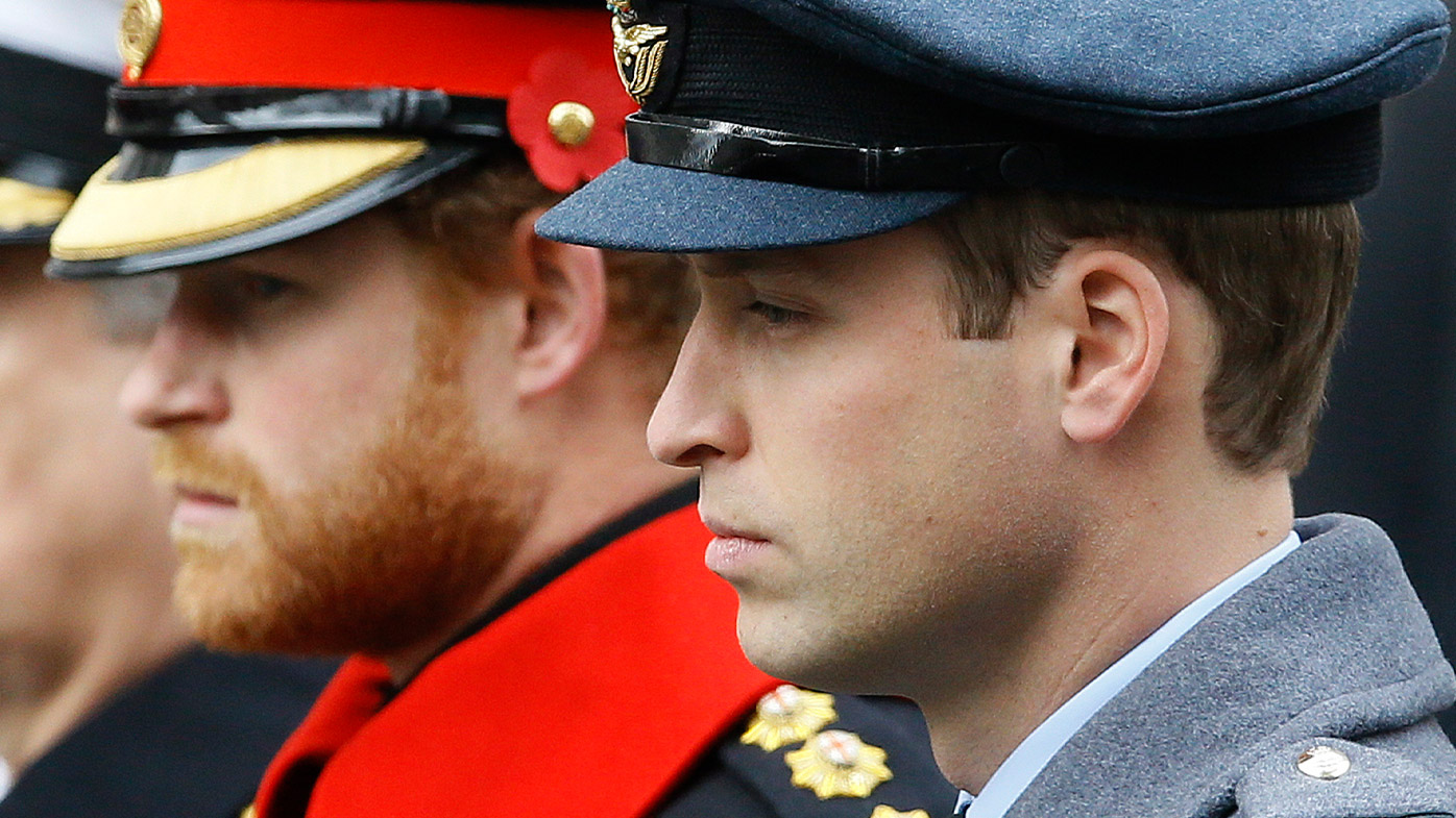 Claims controversial interview is tearing Harry, William apart