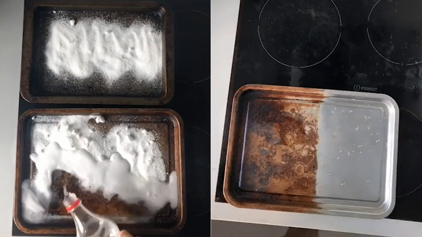 Man shares hack for cleaning grotty oven trays