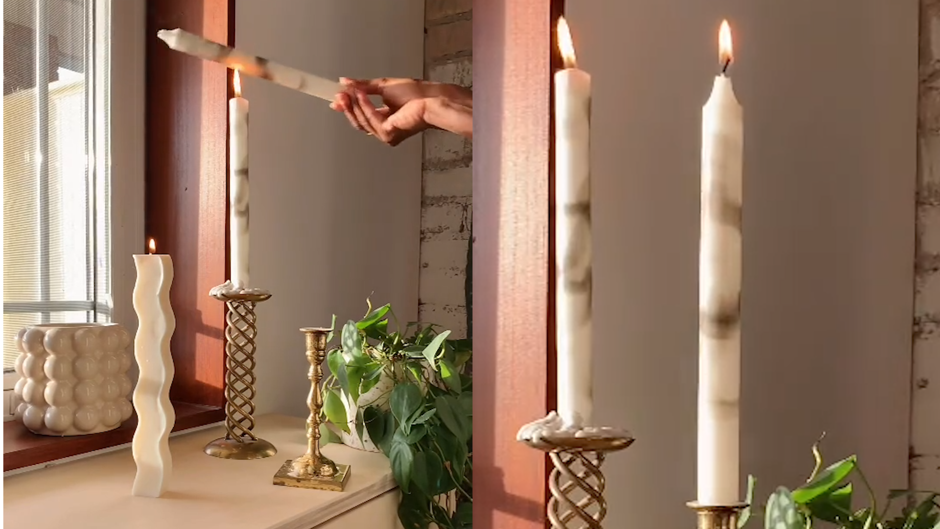 How to make marble-look candles