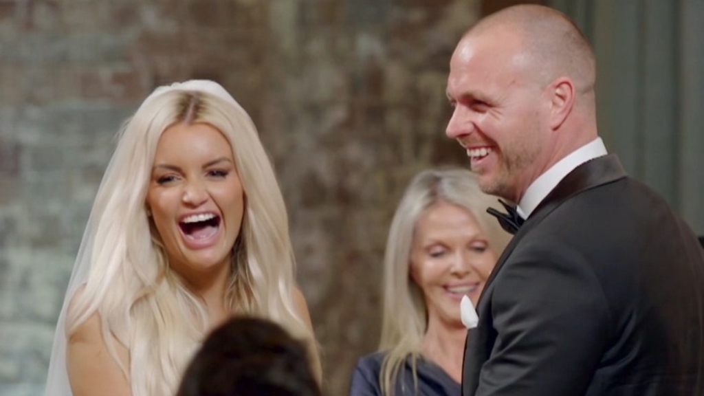 Samantha and Cameron's incredible vows impress on their wedding day