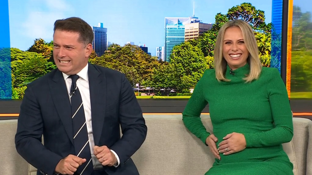 Karl Stefanovic's baby scare after pregnant Sylvia Jeffreys lets out loud 'Oooh'