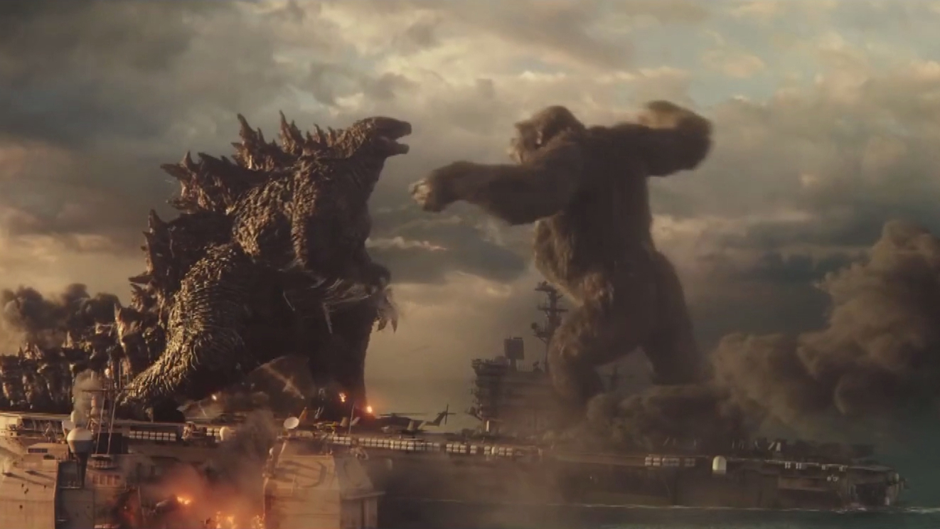 Godzilla and Kong face off