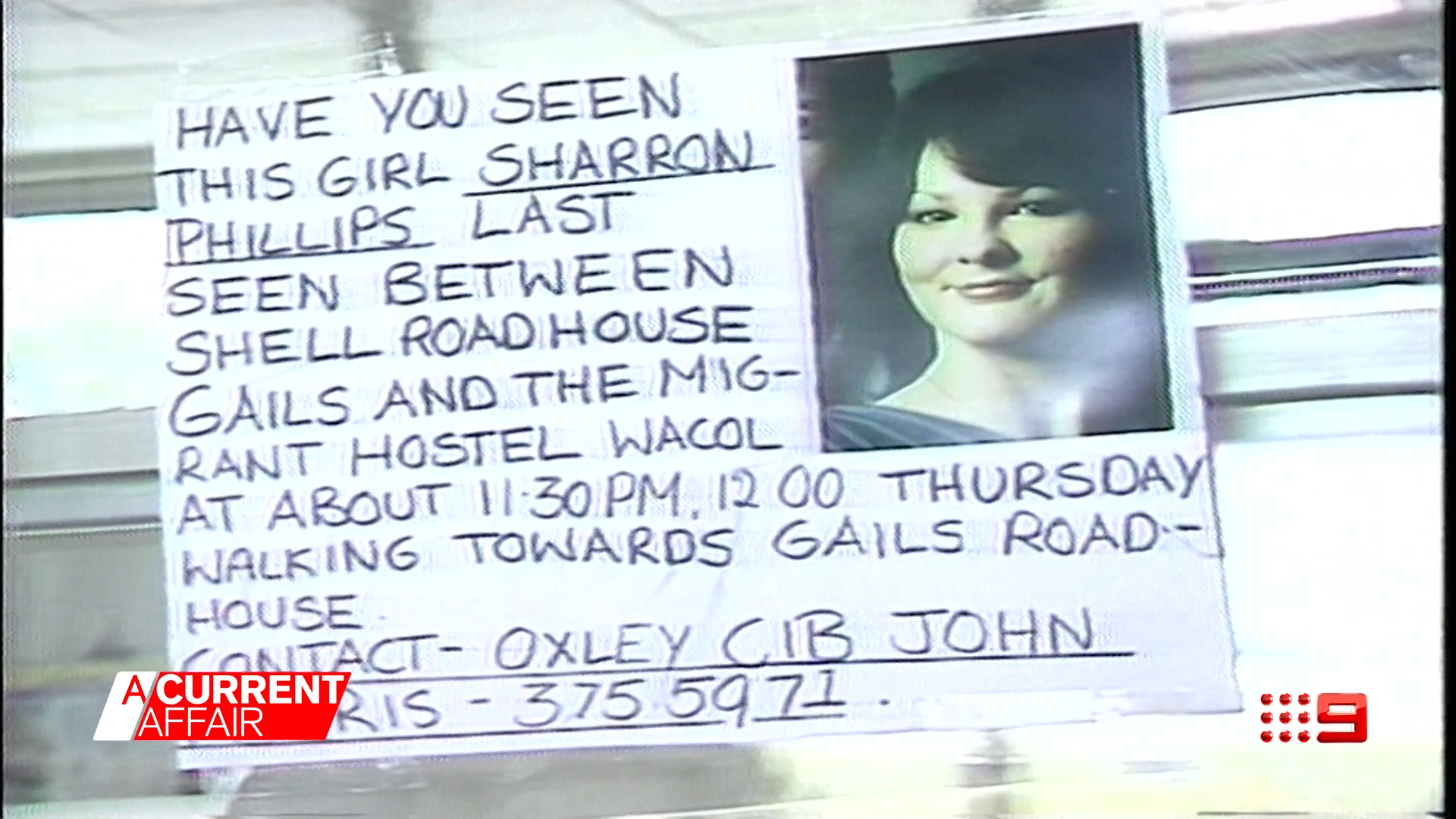 One person alive could know who killed Sharron Phillips