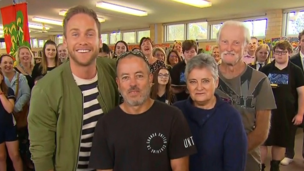 Langdon family drop in on live cross