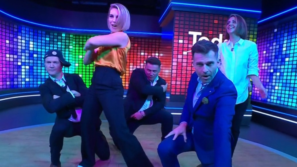 Today team attempt iconic Backstreet Boys dance
