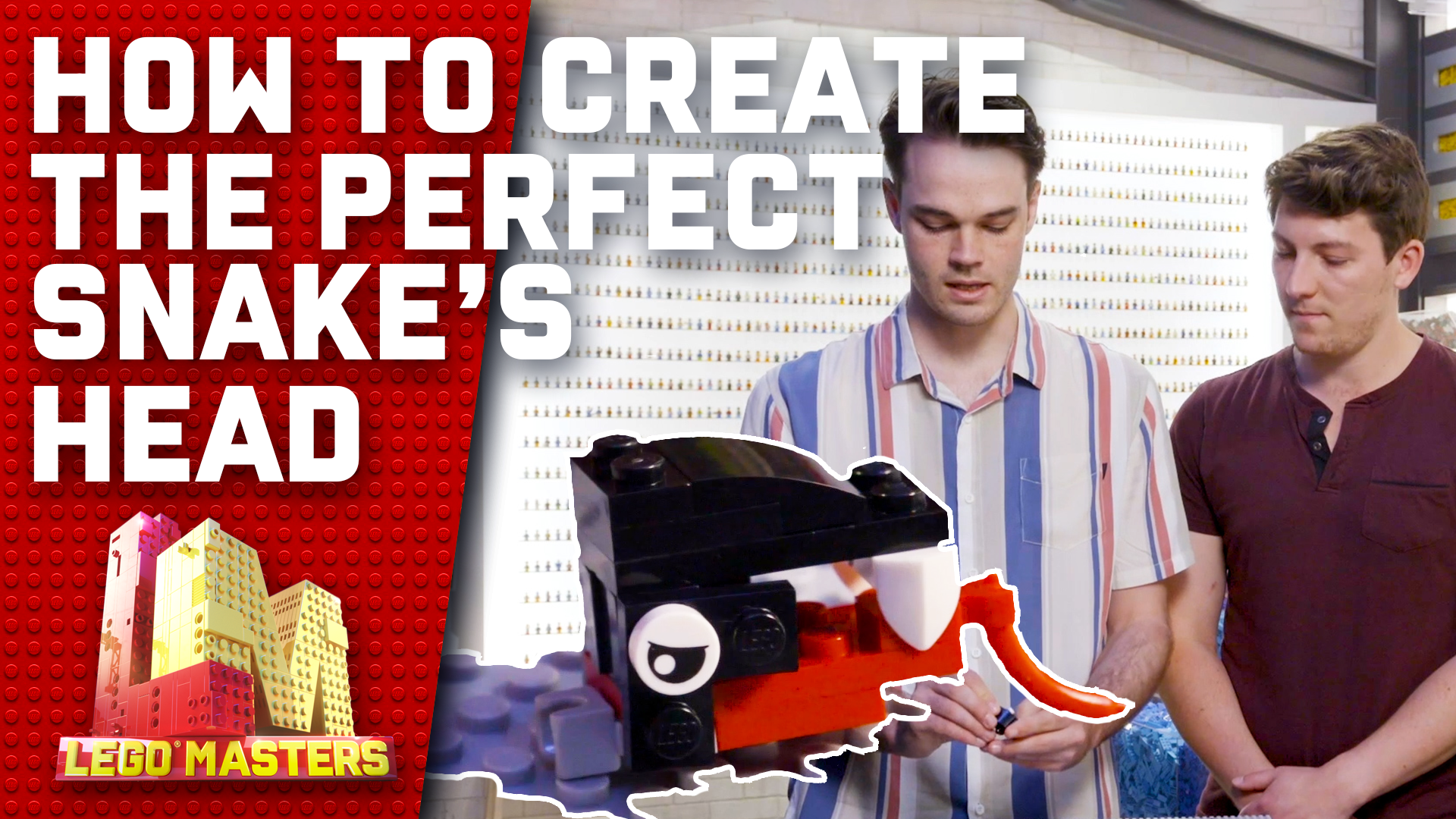 Michael and Harrison reveal how to create a LEGO snake head