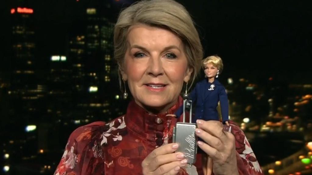 Julie Bishop has been immortalised as a Barbie doll