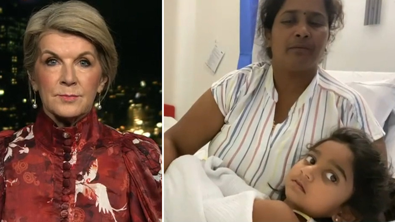 Julie Bishop calls for Biloela family to be 'quietly' resettled in Queensland