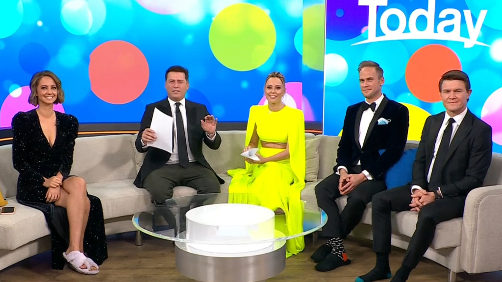 Today hosts glam up for 'lockdown party'