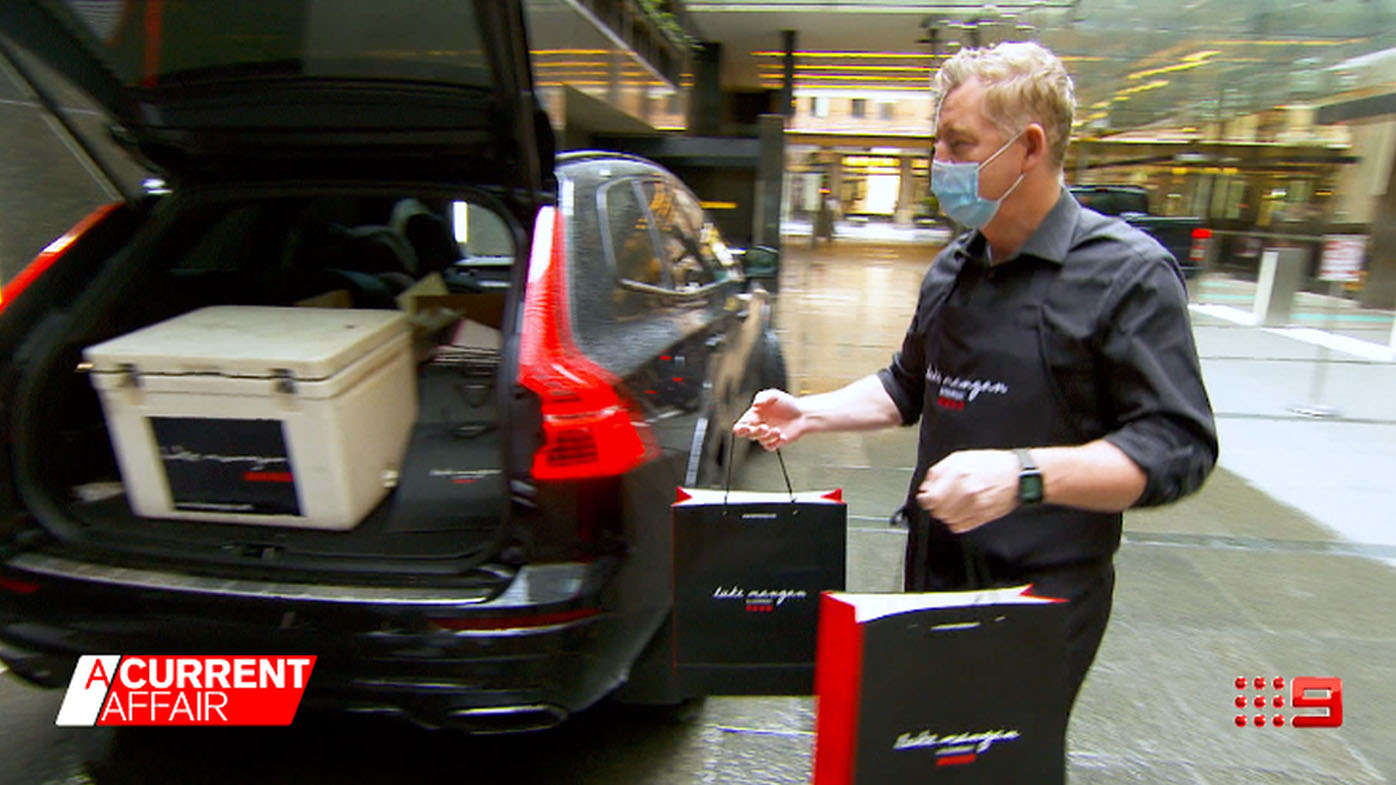 Celebrity chef becomes a delivery driver through lockdowns.