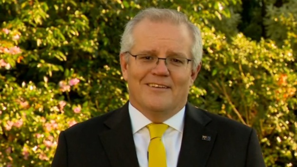 Scott Morrison sends message to wife after Karl makes cheeky comment