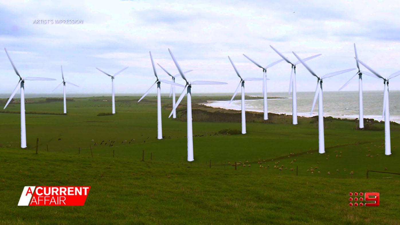 Tassie locals at windy war over wind turbines.
